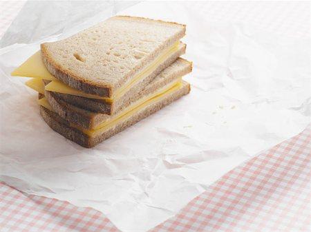 sandwich wrapper - Cheese sandwich Stock Photo - Premium Royalty-Free, Code: 614-00944662