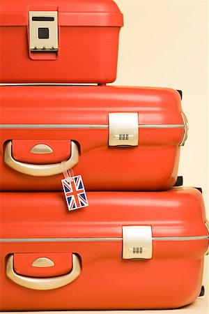 Stack of suitcases with british flag tag Stock Photo - Premium Royalty-Free, Code: 614-01486647