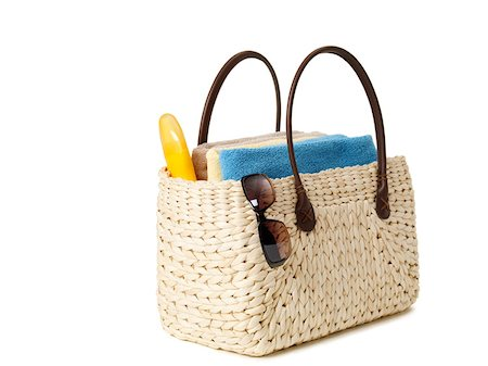 Beach bag Stock Photo - Premium Royalty-Free, Code: 614-01561252