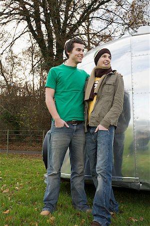 Two teenage boys Stock Photo - Premium Royalty-Free, Code: 614-02074199