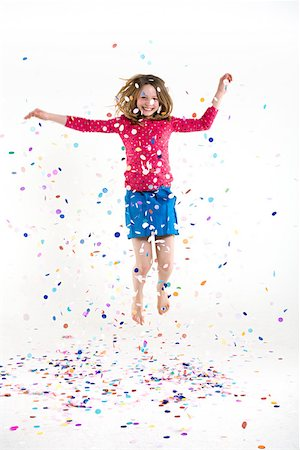 A girl jumping Stock Photo - Premium Royalty-Free, Code: 614-02258167