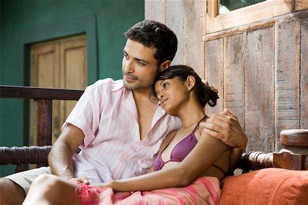Couple relaxing Stock Photo - Premium Royalty-Free, Code: 614-02259806