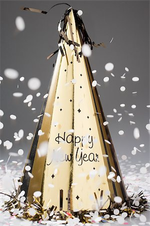 New years eve party hat Stock Photo - Premium Royalty-Free, Code: 614-02394230