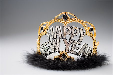 New years eve crown Stock Photo - Premium Royalty-Free, Code: 614-02394268