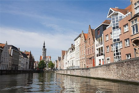 Canal in bruges Stock Photo - Premium Royalty-Free, Code: 614-02393701