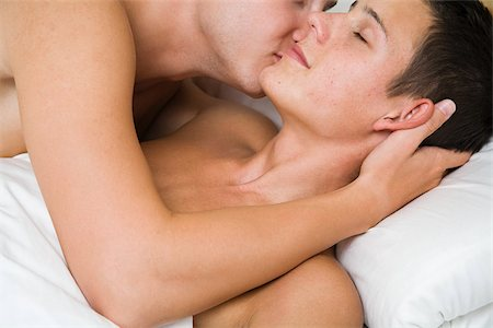 A gay couple getting intimate Stock Photo - Premium Royalty-Free, Code: 614-02613414