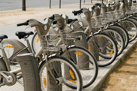 renting - Velib bicycles in paris Stock Photo - Premium Royalty-Free, Code: 614-02680328