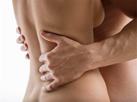 Nude couple hugging Stock Photo - Premium Royalty-Free, Code: 614-02739478
