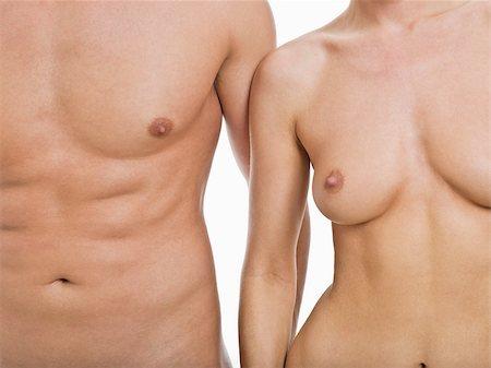 Nude couple Stock Photo - Premium Royalty-Free, Code: 614-02739471