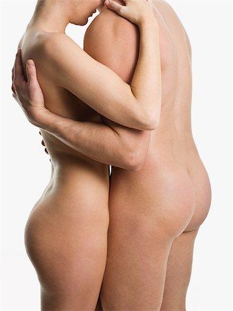 Nude couple hugging Stock Photo - Premium Royalty-Free, Code: 614-02739522