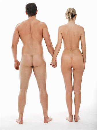 Nude couple holding hands Stock Photo - Premium Royalty-Free, Code: 614-02739535