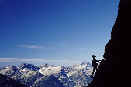 rock climber - Man climbing beckey route on liberty bell mountain Stock Photo - Premium Royalty-Free, Code: 614-02739620