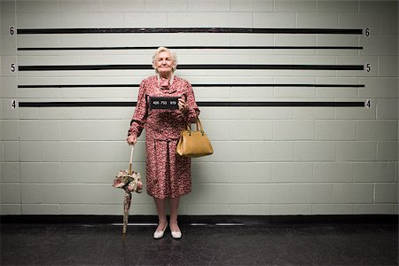 MUgshot of senior woman Stock Photo - Premium Royalty-Free, Code: 614-02740005