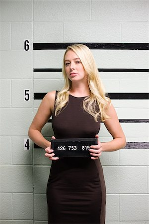 erotic female figures - Mugshot of female criminal Stock Photo - Premium Royalty-Free, Code: 614-02740020