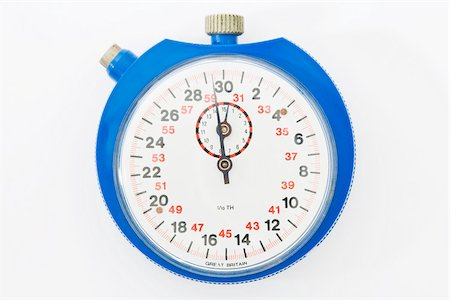 stop watch - A stopwatch Stock Photo - Premium Royalty-Free, Code: 614-02764223