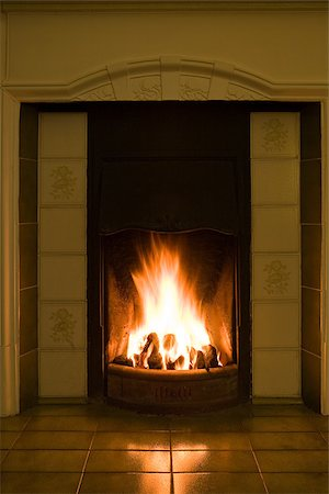 A fireplace Stock Photo - Premium Royalty-Free, Code: 614-02763172