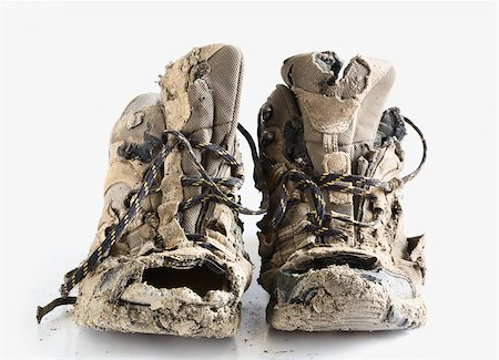 Worn out hiking boots Stock Photo - Premium Royalty-Free, Code: 614-02984914