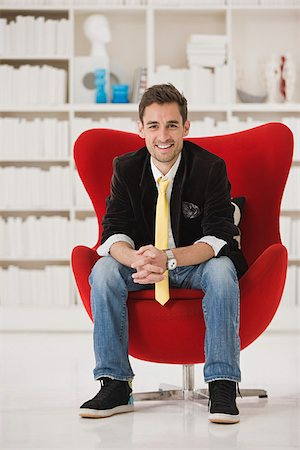red chair - Portrait of a designer Stock Photo - Premium Royalty-Free, Code: 614-02984941