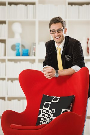red chair - Portrait of a designer Stock Photo - Premium Royalty-Free, Code: 614-02984995