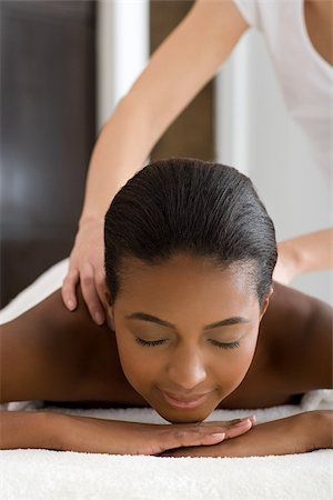 Woman having a massage Stock Photo - Premium Royalty-Free, Code: 614-02983941