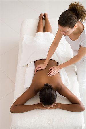 Woman having a massage Stock Photo - Premium Royalty-Free, Code: 614-02983954