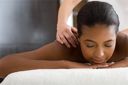 Woman having a massage Stock Photo - Premium Royalty-Free, Code: 614-02983951