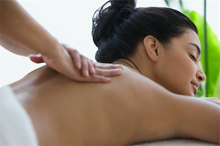 Woman having a massage Stock Photo - Premium Royalty-Free, Code: 614-03020083
