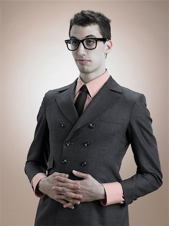 quirky - Young man in jacket Stock Photo - Premium Royalty-Free, Code: 614-03191057