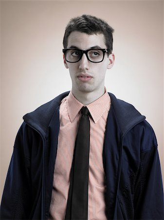 quirky - Portrait of a geek Stock Photo - Premium Royalty-Free, Code: 614-03191098