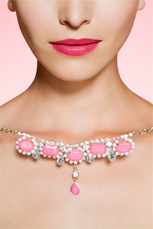 expensive jewelry - Young woman with necklace Stock Photo - Premium Royalty-Free, Code: 614-03191333