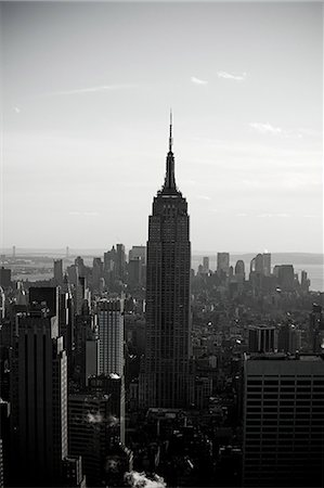 Empire state building and new york cityscape Stock Photo - Premium Royalty-Free, Code: 614-03455092