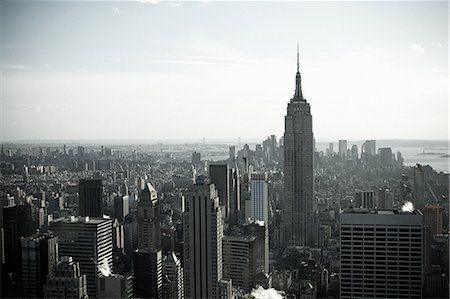 Empire state building and new york cityscape Stock Photo - Premium Royalty-Free, Code: 614-03455106