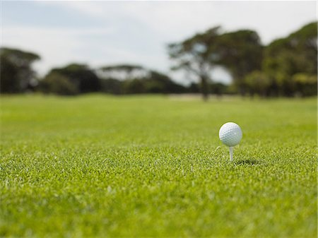 Golf ball on golf course, close up Stock Photo - Premium Royalty-Free, Code: 614-03506976