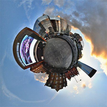 Old street london with little planet effect Stock Photo - Premium Royalty-Free, Code: 614-03577191