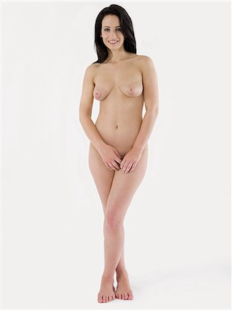 Nude young woman, full length Stock Photo - Premium Royalty-Free, Code: 614-03648017