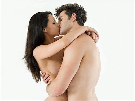 Nude couple kissing Stock Photo - Premium Royalty-Free, Code: 614-03648032