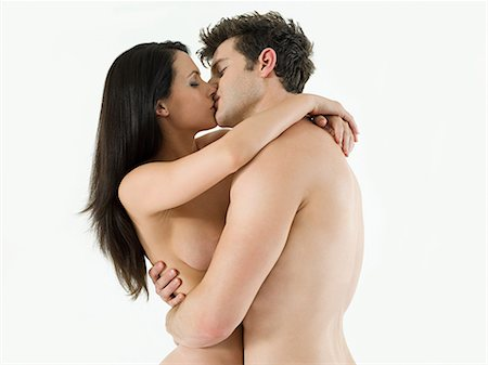 Nude couple kissing Stock Photo - Premium Royalty-Free, Code: 614-03648032