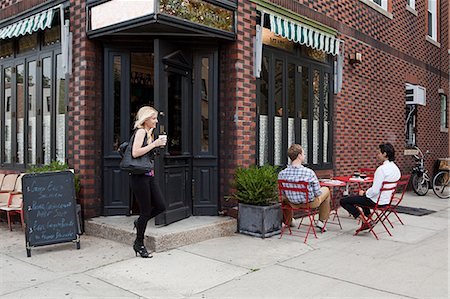 street cafe day - People outside cafe Stock Photo - Premium Royalty-Free, Code: 614-03649601