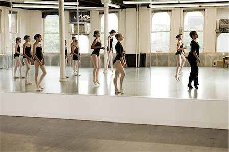 Reflection of ballet class Stock Photo - Premium Royalty-Free, Code: 614-03684379