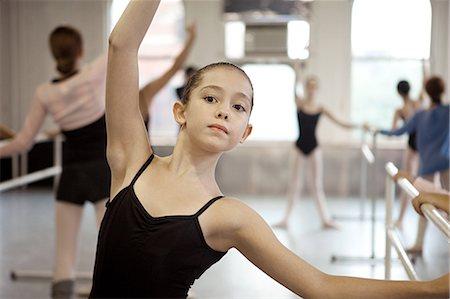 Girl in ballet class Stock Photo - Premium Royalty-Free, Code: 614-03684380