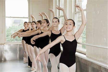 Ballerinas in pose Stock Photo - Premium Royalty-Free, Code: 614-03684429