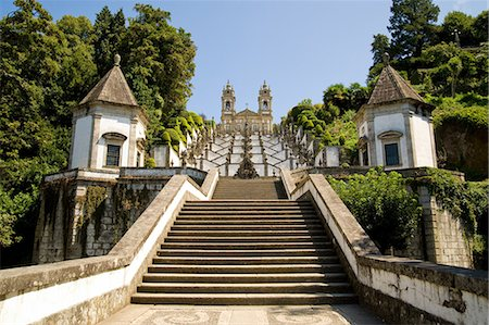portugal - Staircase to Bom Jesus do Monte Sanctuary, Braga, Portugal Stock Photo - Premium Royalty-Free, Code: 614-03747173