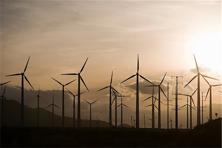 Wind farm, Indian Wells, California, USA Stock Photo - Premium Royalty-Free, Code: 614-03763934
