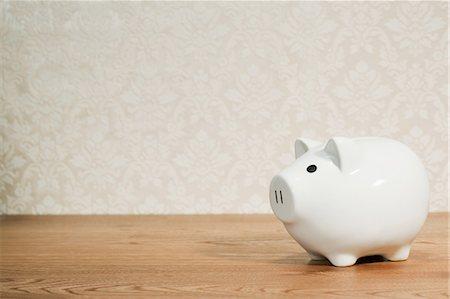 savings - White piggy bank Stock Photo - Premium Royalty-Free, Code: 614-03903080