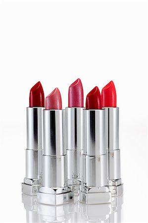 Five lipsticks Stock Photo - Premium Royalty-Free, Code: 614-03982116