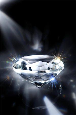 White shiny diamonds in dark Stock Photo - Premium Royalty-Free, Code: 618-04251425