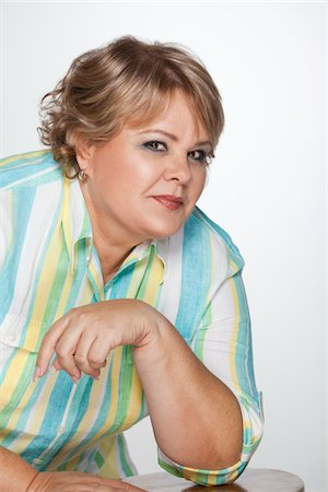 Portrait of overweight woman Stock Photo - Premium Royalty-Free, Code: 618-04251509