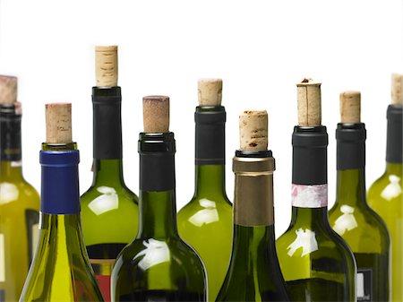 Wine bottles isolated Stock Photo - Premium Royalty-Free, Code: 618-04251569