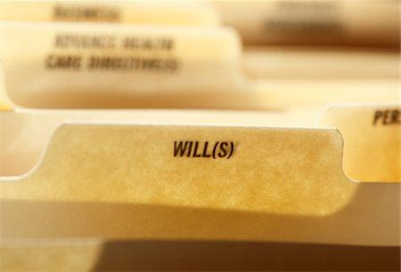 WIlls tab in folder Stock Photo - Premium Royalty-Free, Code: 618-05450782