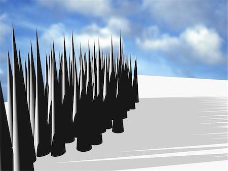 spike - CG rendering, Column Stock Photo - Premium Royalty-Free, Code: 618-05551409